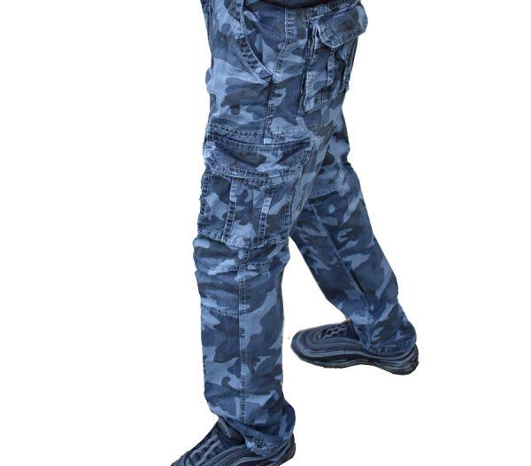 Muške army maskirne pantalone 8103-85 nogavice i dzepovi
