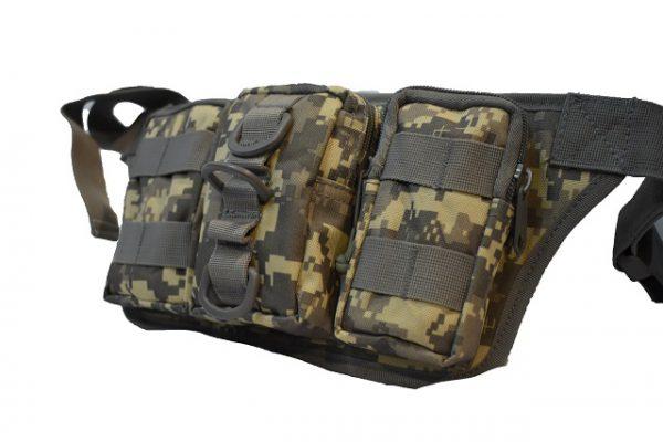 Armi torbica oko struka sa 3 pregrade