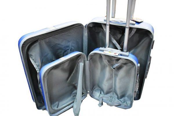 Set plasticnih kofera za putovanje 2/1 ORMI u svetloplavoj boji