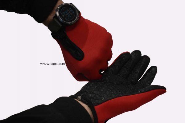 muške rukavice crvene