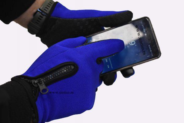 muške rukavice plave sa cipzarom