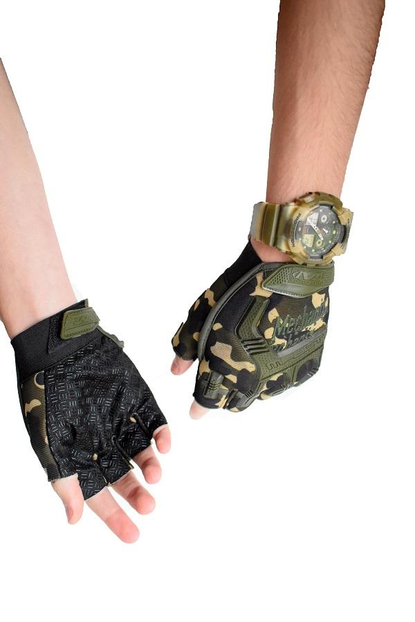 rukavice bez prstiju maskirne