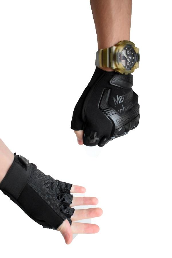 taktičke rukavice bez prstiju crne