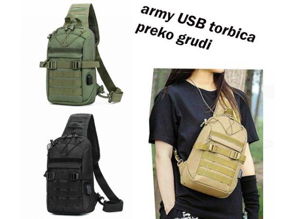 Military USB torbica preko grudi