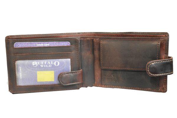 Muški kožni novčanik BUFFALO WILD mahagoni