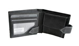 Kozni novčanik Wild -S jednostruko otvoren