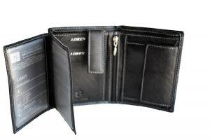 Muški kožni novčanik Loren black