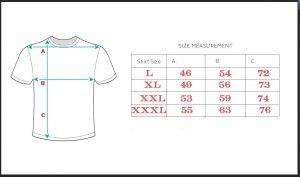 tabela veličina majica