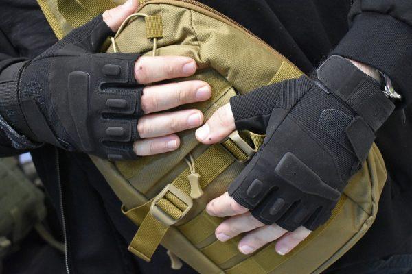 Rukavice bez prstiju model BLACK EAGLE