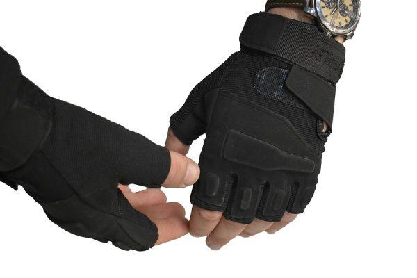 Rukavice bez prstiju model BLACK EAGLE crne