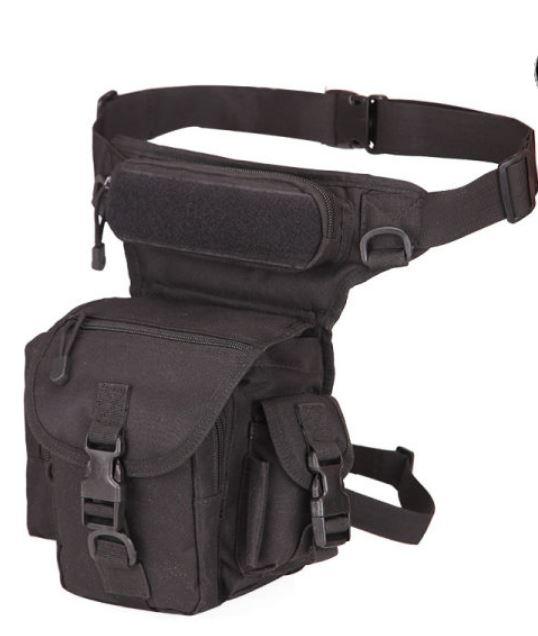 torbica za pojas sa vezivanjem oko noge u crnoj boji