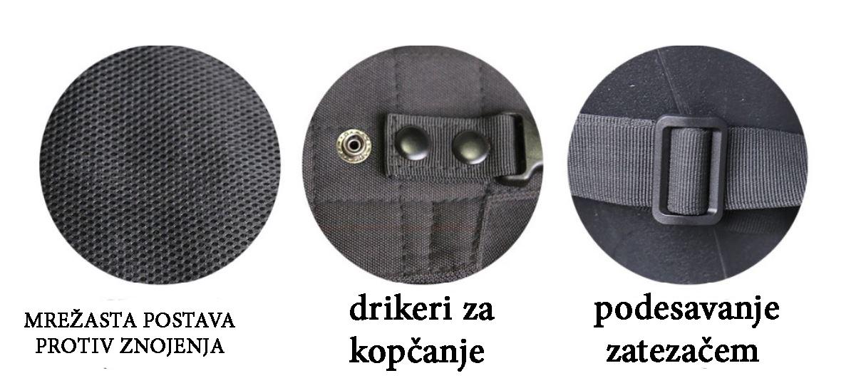 detalji torbe za oružje