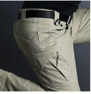 armi military taktičke kargo pantalone dzeparice u krem boji
