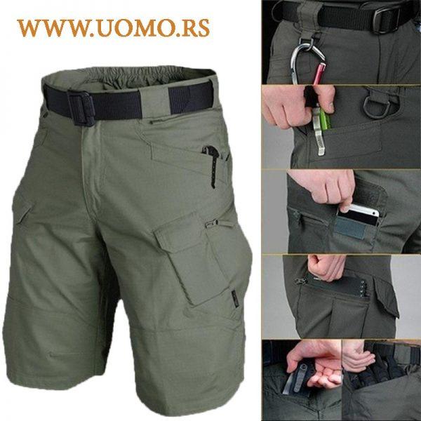 Takti;ke militari bermude shorts detalji