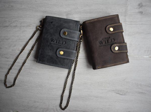 Muški kožni novčanik sa lanacem WILD