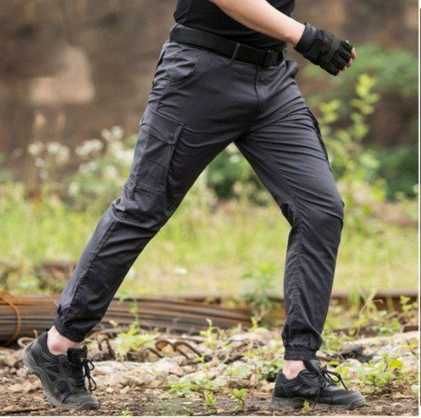 siva boja militari pantalona sa ramflom