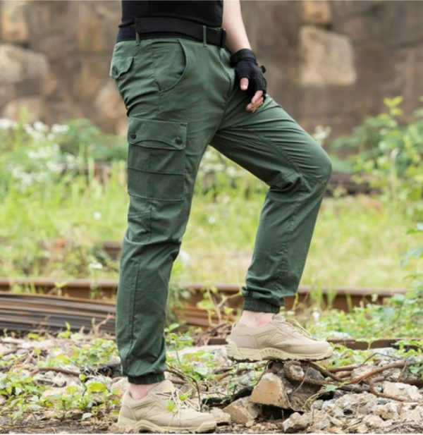 militari zelene pantalone sa ramflom