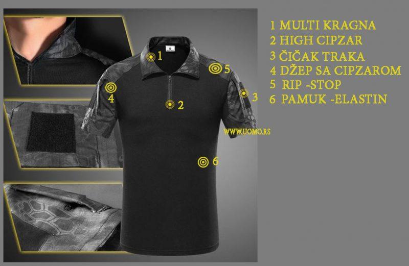 Military polo takticka majica